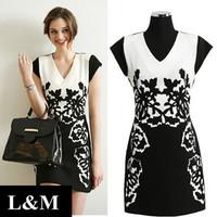 Summer 2014 New Dress Large yard V-neck Printing Chiffon Thin Wholesale women clothing Fashion dresses European style vintage