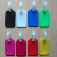 Smoked pull type design Luggage tags Machinable custom plastic Suitcases checked card