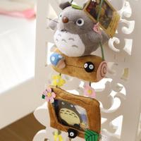 Free shipping special creative Totoro cartoon plush Hanging photo frame cloth plush stuffed toy girl birthday gift 1pc
