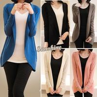 New fashion women knitted sweater cardigan outerwear shawl long sleeve jacket knitwear coats Good quality B11 SV05785
