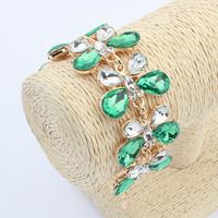 Top Quality 4 Colors Fashion Butterfly Flower Bracelets & Bangles Imitation Gemstones Bracelets For Women