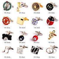 3 pairs lot Silver and Gold Mix Order Cufflinks Novelty Cufflinks Best Men Metal Cufllinks
