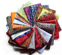 Wholesale 24*24CM Jacquard Pocket Squares Paisley Mens Handkerchief  Groom dress pocket towel+ Free Shipping 10PCS #1745