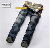 Free Shipping retail(1piece) fashion 2014 high quality Nostalgic blue cotton brand men's jeans