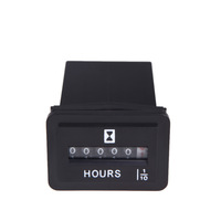 DC 6V-50V Hour Meter Hourmeter Tachometer Gauge for Boat Car Truck Engine Rectangular Auto Accessories Part Replacement