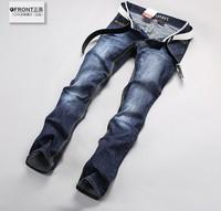 Free Shipping retail fashion 2014 high quality Nostalgic blue cotton brand men's jeans Size 28-30