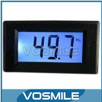 AC80-250V 10Hz-199.9Hz Blue LCD HZ Digital Frequency Meter Cymometer Panel AC Frequency Panel Hertz Frequency Indicator#200710