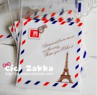 PP061 Lovely Effel Towel Transparent Biscuit Food Favor Packaging Bags Cookie Packaging Wedding Gift Bags 100Pcs/lot