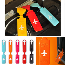 10 Pcs/lot Wholesale Multi-colored Soft PVC New Consignment Baggage/ Luggage Tag Traveling Accessories(China (Mainland))