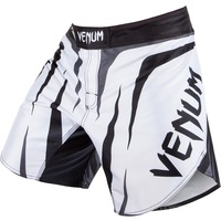 "Venum""Sharp"" FIGHTSHORTS - BLACK  QUALITY COMBAT BOXING MMA TRAINING BJJ KICKBOXING Muay Thai"