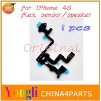 Wholesale 1Pcs* Sensor Flex Cable for iPhone 4s Power On Off Lock Ribbon for Replacement Best Quality Free shipping