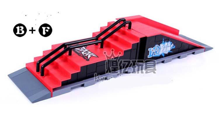 Model B F Mini Ramp Finger Skatepark Tech Deck Skate Park