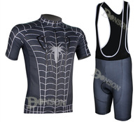 2014 Spider man Team Maillot Cycling Clothing Short Sleeve Jersey And Bib Shorts Bicycle Shirt Ciclismo Clothing Bike Jersey Set