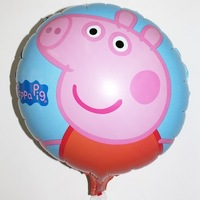 Birthday party supplies party balloons wholesale children's toys new aluminum foil helium balloon ball pig sister