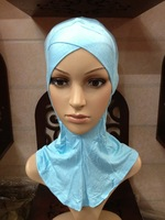 m2020 wholesale cotton solid color cross design muslim inner cap islamic Ninja Inner Underscarf