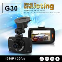 G30 Novatek 96650 2.7 Car DVR Camera Recorder Camcorder FHD 1080P G-sensor WDR Night Vision 170 Wide Angle SOS Motion Detection