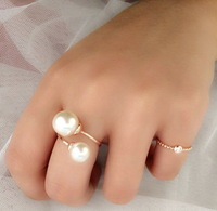 Elegant Simulated Pearl Rings Anel Joias With Austrian Crystal Stellux Utopia Jewelry