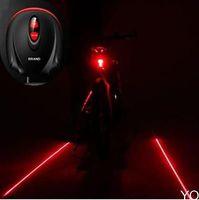 2 Laser+ 5 LED Cycling Bicycle Taillight Warning Lamp Flashing Alarm Light