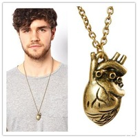 New Punk Gothic Human Anatomical Heart Small Pendant Necklace