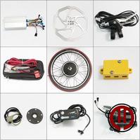 Free shipping! 24V 500W LED panel, Rear  wheel hub motor of electric bicycle conversion kit