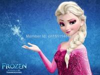 Free Sale Shipping 50*70cm Frozen Wall Stickers Cartoon Film Beautiful Elsa Poster Custom Canvas Paint Hd Decor Sticker New 2014