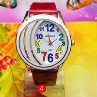 2014 New fashion GENEVA unisex multicolor leather band quartz analog wristwatches men women casual sports dress watch WTH65