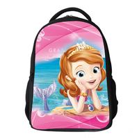 2015 canvas children school bags primary girls cartoon backpack mochilas school kids Sofia Princess schoolbag book bag 3 colors