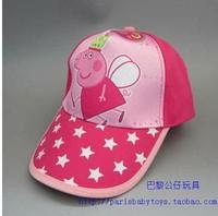 Peppa Pig Hat Adjustable Hip Pop Baseball Cap Summer Hat for Girls and Boys Children Gift tourist beach caps Retail 1pcs
