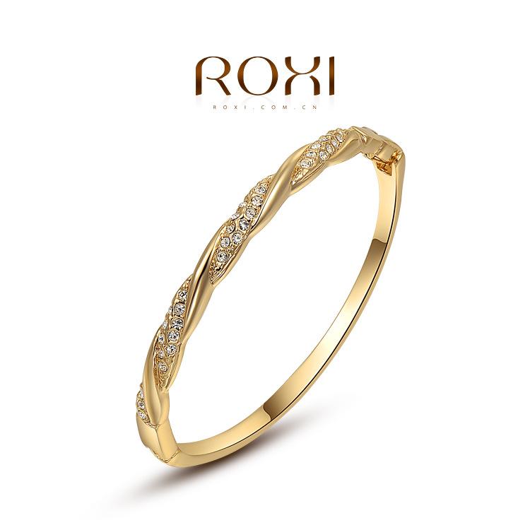 Roxi fashion jewelry austria crystal gold interweave bracelet star light 2050017605B(China (Mainland))
