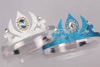 2014 Rushed New Hairbands Hair Accessories Hair Jewelry Frozen Crown Princess Elsa Cosplay Sliver & Color Heart Fashion Jewelry
