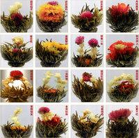 Free shipping Handmade16 Kinds of Handmade Blooming Flower Tea Chinese Ball blooming flower herbal tea Artistic health care tea