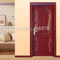 100CM*200Cm Home Office Decor Purple Heart Tassel String Door Doorway Window  Line Curtain Room Divider Blind Screen Drape