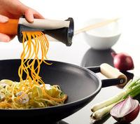 Spirelli Grater Vegetable Julienne Spiral Slicer, Easy Spiral Vegetable & Fruit Slicer Twister World Cuisine Vegetable Cutter