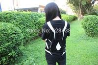 summer men women clothing anime Toaru Kagaku no Railgun Cosplay costume cotton short sellve black Casual t-shirt tops