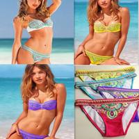Bandeau Bra Push up Bikini /Sexy Ethnic nylon bikini swimsuit+ Free shipping