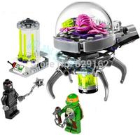 2014 Newest Bela 10206 Teenage Mutant Ninja Turtles Building blocks Escape the lab 2figures 90 pcs DIY Bricks Toys for Children