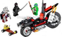 Bela 10207 203 Pcs/setTeenage Mutant Ninja Turtles Schneider Fast Dragon Motor Building Block Sets Content 3 Figures