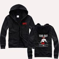 Hoodies Man Boxing Sanda kung fu martial arts cardigan sweater zipper unlimited MMA Sweatshirts  Men
