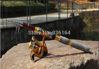 2014new free shipping 2.7M 8.86FT Portable Telescope Fishing Rod Travel Spinning Fishing Pole