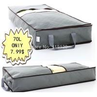 70L Home Save space organizer Underbed Closet Storage Box Case Clothes Divider Organiser quilt Organizer Under Bed