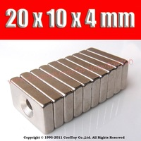 2014 new 10pcs 20*10*4mm 20x10x4  craft model powerful strong rare earth ndfeb block magnet neodymium n35 magnets 20 x 10 4 mm r