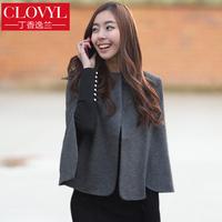 2014 Spring woolen outerwear o-neck wool cloak wool coat cape short jacket autumn and winter cloak