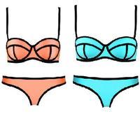 Free shipping hot selling Sexy Cool Women Lady push up NEOPRENE BIKINI Superfly Swimsuit Neoprene Swimwear bandage bikini set