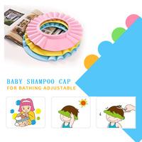 50g Free shipping baby shampoo cap baby shampoo shower cap children baby shower cap adjustable thick helmet