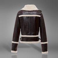 2014 freeshipping new wool liner slim long patchwork faux fur  coat women's fur coat