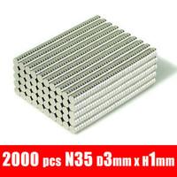 3*1  2000pcs 3mm x 1mm disc rare earth neodymium strong magnets n35  ndfeb warhammer models magnet neodymium