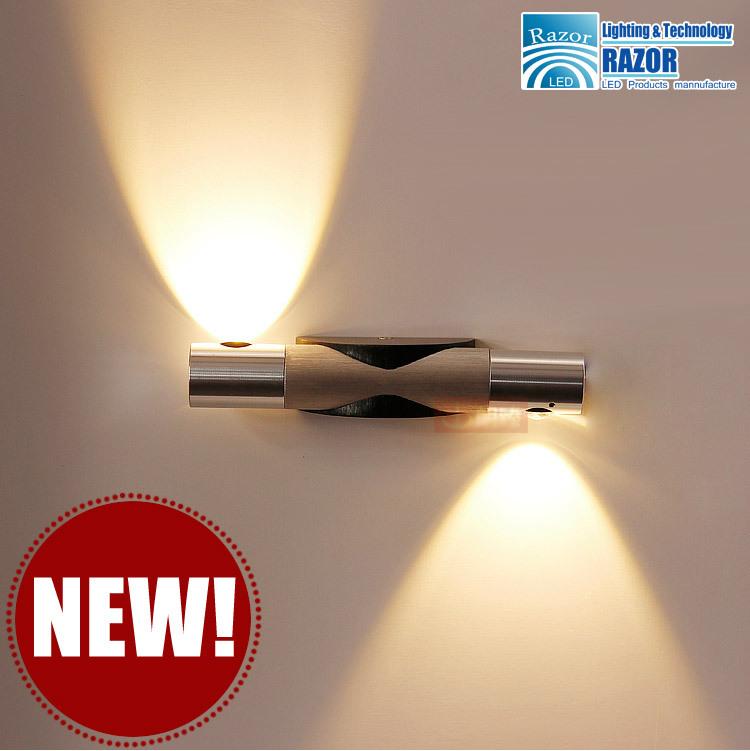 Hot sell Modern 2*3W led wall light bed lamp hotel restroom bathroom bedroom wall lamp 6W AC90~265V RAZOR Lighting Freeshipping(China (Mainland))