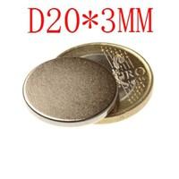 100 PCS D20*3MM  20 MM X 3 MM disc powerful magnet craft magnet neodymium  rare earth neodymium permanent strong magnet n50 n52