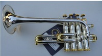FREE SHIPING EMS  Baja Bach4 key soprano trumpet instrument