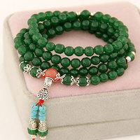 2014 New Bohemian beads bracelets & bangles Auspicious Wishful pendant Bracelet Bangle For Women Fashion Jewelry Wholesale